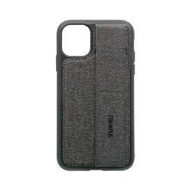 OWLTECH オウルテック iPhone 11 6.1インチ 用 スタンドベルト付耐衝撃ケース OWL-CVIB6108-GY グレー