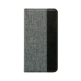 OWLTECH オウルテック iPhone 11 Pro Max 6.5インチ 用 カード収納ポケット付き手帳型ケース OWL-CVIB6503-GYBK グレーxブラック