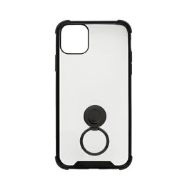 OWLTECH オウルテック iPhone 11 Pro Max 6.5インチ 用 リング付耐衝撃ケース OWL-CVIB6507-BK ブラック