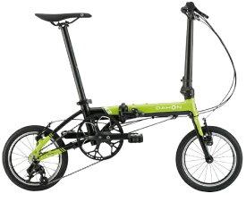 DAHON ダホン 14型 折りたたみ自転車 K3(ライム×ブラック/3段変速) K3【2020年モデル】【組立商品につき返品不可】 【代金引換配送不可】