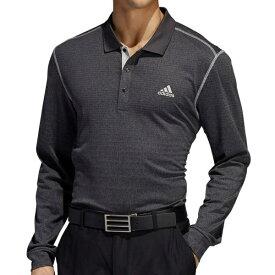 アディダス adidas メンズ ゴルフウェア グラデーションボーダー 長袖ポロ(Mサイズ/ブラックヘザー) FWJ13
