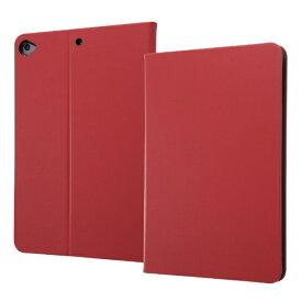 イングレム Ingrem iPad mini 5用 レザーケース スタンド機能付き IN-PA12LC1/R レッド