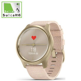 GARMIN ガーミン vivomove Style Blush Pink Nylon / Light Gold【Suica対応】 010-02240-72[100224072]