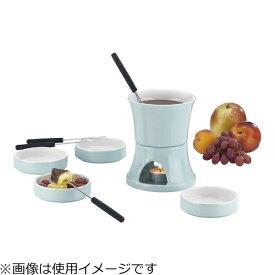 Kela ケラ チーズ&チョコレートフォンデュセット 2人用 リリィ ブルー 12130 <PKE1901>[PKE1901]