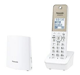 パナソニック Panasonic VE-GZL40DL-W 電話機 ホワイト [子機1台 /コードレス][電話機 本体 VEGZL40DLW]