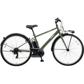 パナソニック Panasonic 700×38C 電動アシスト自転車 ベロスター・フロントバスケット付(マットオリーブ 限定カラー/外装7段変速) BE-ELVS77 GB4【2020年モデル】 【代金引換配送不可】