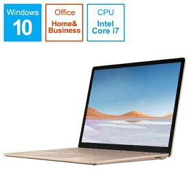 マイクロソフト Microsoft  SurfaceLaptop3 [13.5型 /SSD 256GB /メモリ 16GB /Intel Core i7 /サンドストーン/2019年] VEF-00081 ノートパソコン サーフェスラップトップ3[13.5インチ office付き 新品 windows10][VEF00081]