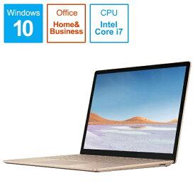 マイクロソフト Microsoft  SurfaceLaptop3 [13.5型 /SSD 512GB /メモリ 16GB /Intel Core i7 /サンドストーン/2019年] VGS-00064 ノートパソコン サーフェスラップトップ3[13.5インチ office付き 新品 windows10][VGS00064]