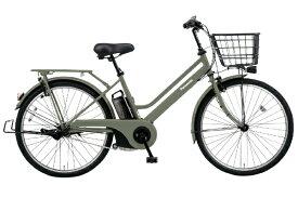 パナソニック Panasonic 26型 電動アシスト自転車 ティモ・S(マットオリーブ/内装3段変速) BE-ELST635G2【2020年モデル】【組立商品につき返品不可】 【代金引換配送不可】