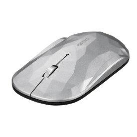BUFFALO バッファロー BSMBW338GSV マウス BSMBW338シリーズ シルバー [BlueLED /3ボタン /USB /無線(ワイヤレス)][BSMBW338GSV]