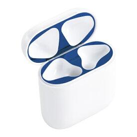 イングレム Ingrem AirPods 第2世代(AirPods with Wireless Charging Case)/第1世代(AirPods with Charging Case) ダストガード 傷防止 スキンシール/ネイビー ネイビー IS-AP1DS/N