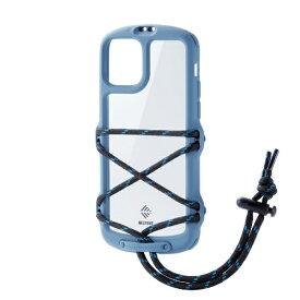 エレコム ELECOM iPhone 11 Pro NESTOUT Fes&Camp スモーキーブルー PM-A19BNESTFBU
