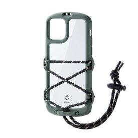 エレコム ELECOM iPhone 11 Pro NESTOUT Fes&Camp オリーブ PM-A19BNESTFKH