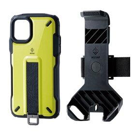 エレコム ELECOM iPhone 11 NESTOUT Trekking ライムイエロー PM-A19CNESTTYL