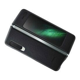 SAMSUNG サムスン 【サムスン純正】Galaxy Fold用 Leather Cover ブラック EF-VF900LBEGJP
