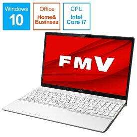 富士通 FUJITSU FMVA50D3WP ノートパソコン FMV LIFEBOOK AH50/D3 プレミアムホワイト [15.6型 /intel Core i7 /SSD:256GB /メモリ:4GB /2019年10月モデル][15.6インチ office付き 新品 windows10][FMVA50D3WP]