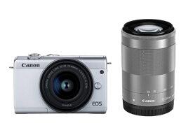 キヤノン CANON EOS M200 ミラーレス一眼カメラ ダブルズームキット ホワイト [ズームレンズ+ズームレンズ][EOSM200WHWZK]【point_rb】