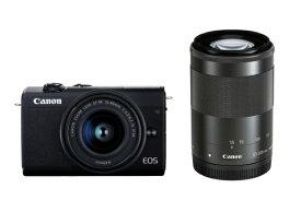 キヤノン CANON EOS M200 ミラーレス一眼カメラ ダブルズームキット ブラック [ズームレンズ+ズームレンズ][EOSM200BKWZK]