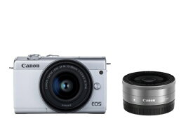 キヤノン CANON EOS M200 ミラーレス一眼カメラ ダブルレンズキット ホワイト [ズームレンズ+単焦点レンズ][EOSM200WHWLK]【point_rb】