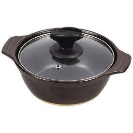 パール金属 PEARL METAL ファントゥクック陶器ガラス蓋卓上鍋 24号 L-1888 ブラウン[L1888]