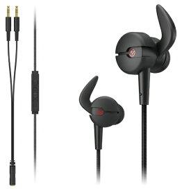 エレコム ELECOM HS-ARMA30EBK ゲーミングヘッドセット ARMA FPS ブラック [φ3.5mmミニプラグ /両耳 /イヤホンタイプ][HSARMA30EBK]