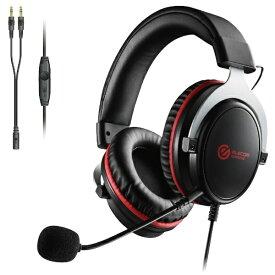 エレコム ELECOM HS-G40BK ゲーミングヘッドセット ブラック [φ3.5mmミニプラグ /両耳 /ヘッドバンドタイプ][HSG40BK]