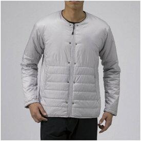 ミズノ mizuno メンズ ジャケット ブレスサーモサーモブリッドノーカラージャケット(XLサイズ/ベイパーシルバー) B2ME9558