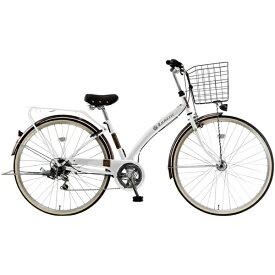 MARUKIN マルキン 27型 自転車 ルネシック276-B(ホワイト/6段変速) MK-20-034【2020年モデル】【組立商品につき返品不可】 【代金引換配送不可】