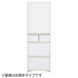 日立 HITACHI 《基本設置料金セット》R-S40KL-XW 冷蔵庫 Sタイプ クリスタルホワイト [5ドア /左開きタイプ /401L][冷蔵庫 大型 RS40KL]