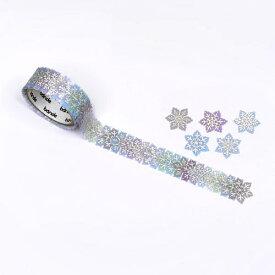 バンデ bande マスキングロールステッカー 雪の結晶 BDA499