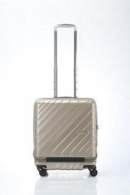ヒデオワカマツ HIDEO WAKAMATSU スーツケース 42L マックスキャビン ウェーブ2 ゴールド 85-76579 [TSAロック搭載]
