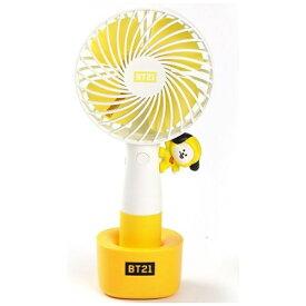 ソロモン商事 SOLOMON RHF-BT21-CMLED LED携帯扇風機 BT21 CHIMMY