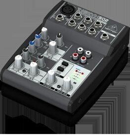 behringer ベリンガー ヘッドアンプに温かみのあるブリティッシュEQを搭載した5入力、1モノ+ステレオ出力のコンパクトミキサー 502XENYX