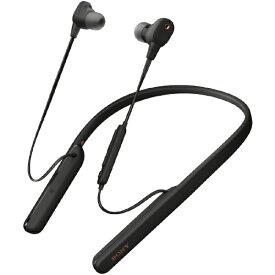 ソニー SONY ブルートゥースイヤホン ブラック WI-1000XM2BM [リモコン・マイク対応 /ワイヤレス(ネックバンド) /Bluetooth /ハイレゾ対応 /ノイズキャンセリング対応][ワイヤレスイヤホン WI1000XM2BM]