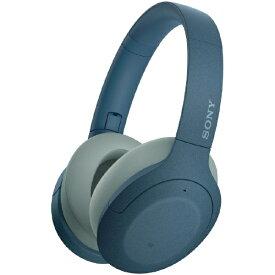 ソニー SONY ブルートゥースヘッドホン ブルー WH-H910N LM [リモコン・マイク対応 /Bluetooth /ハイレゾ対応 /ノイズキャンセリング対応][ワイヤレスヘッドホン][WHH910NLM]【rb_cpn】
