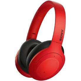 ソニー SONY ブルートゥースヘッドホン レッド WH-H910N RM [リモコン・マイク対応 /Bluetooth /ハイレゾ対応 /ノイズキャンセリング対応][ワイヤレスヘッドホン][WHH910NRM]【rb_cpn】