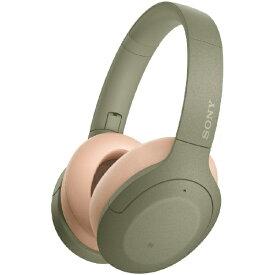 ソニー SONY ブルートゥースヘッドホン アッシュグリーン WH-H910N GM [リモコン・マイク対応 /Bluetooth /ハイレゾ対応 /ノイズキャンセリング対応][WHH910NGM]