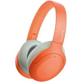 ソニー SONY ブルートゥースヘッドホン オレンジ WH-H910N DM [リモコン・マイク対応 /Bluetooth /ハイレゾ対応 /ノイズキャンセリング対応][ワイヤレスヘッドホン][WHH910NDM]