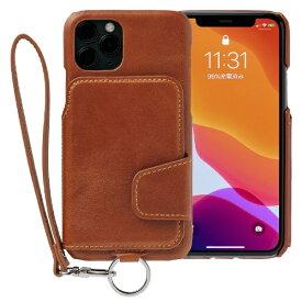 トーモ toomo RAKUNI Leather Case for iPhone 11 Pro rak-19ips-car キャラメルブラウン