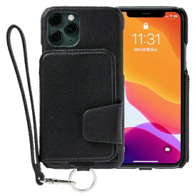 トーモ toomo RAKUNI Leather Case for iPhone 11 Pro rak-19ips-blk ピュアブラック