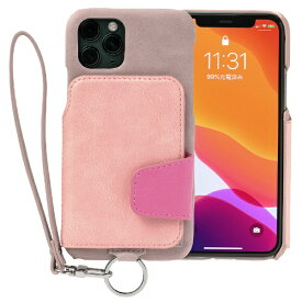 トーモ toomo RAKUNI Soft Leather Case for iPhone 11 Pro rak-19ips-ppnk スモーキーピンク