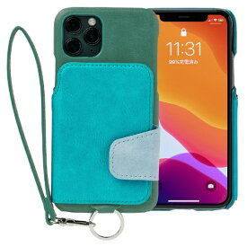 トーモ toomo RAKUNI Soft Leather Case for iPhone 11 Pro rak-19ips-pgrn レイクグリーン