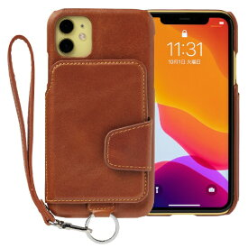 トーモ toomo RAKUNI Leather Case for iPhone 11 rak-19ipm-car キャラメルブラウン