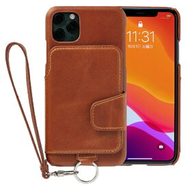 トーモ toomo RAKUNI Leather Case for iPhone 11 Pro Max rak-19ipl-car キャラメルブラウン