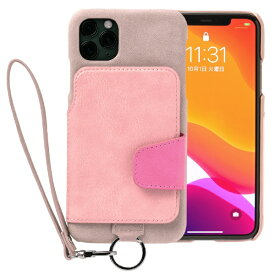 トーモ toomo RAKUNI Soft Leather Case for iPhone 11 Pro Max rak-19ipl-ppnk スモーキーピンク