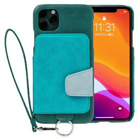 トーモ toomo RAKUNI Soft Leather Case for iPhone 11 Pro Max rak-19ipl-pgrn レイクグリーン
