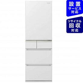 パナソニック Panasonic 《基本設置料金セット》NR-E415PVL-W 冷蔵庫 PVタイプ スノーホワイト [5ドア /左開きタイプ /406L][冷蔵庫 大型][NRE415PVL_W]