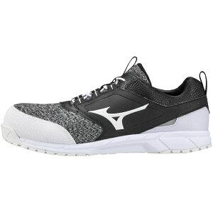 ミズノ mizuno 25.0cm 靴幅:3E メンズ 安全靴 オールマイティES31L(ブラック×ホワイト) F1GA1903【JSAA・普通作業用(A種)認定品 耐滑 プロテクティブスニーカー】