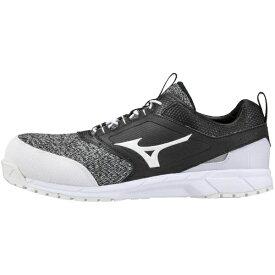 ミズノ mizuno 25.5cm 靴幅:3E メンズ 安全靴 オールマイティES31L(ブラック×ホワイト) F1GA1903【JSAA・普通作業用(A種)認定品 耐滑 プロテクティブスニーカー】