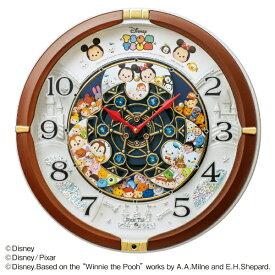 セイコー SEIKO からくり掛け時計 Disney Time(ディズニータイム) 茶メタリック FW588B